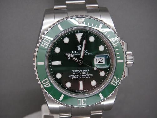 "Rolex submariner 116610LV Green Bezel ""Hulk"" Brand New 2016"