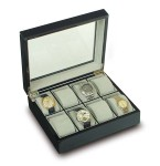 Collector Box - Ebony Glass Top - Eight Watch - B244