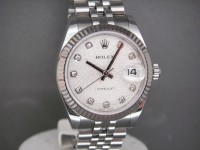 Ladies Rolex Midsize Date-Just 178234 Silver Jubilee Diamond Dial Complete UK Watch