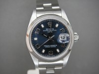Rolex Ladies Oyster date 79160 Stainless steel Blue Dial Box and Papers