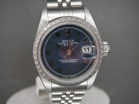 Ladies Rolex Oyster Date 69240 Blue Dial Complete UK Watch and Pristine