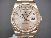 Rolex Day-Date 18ct Gold 118238  Diamond Dial Brand New