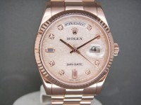Rolex Day-Date 118235 Rose Gold Jubilee Diamond Dial Pristine Amazing Example!