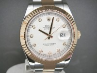 Rolex Date-Just ll 41mm Steel & 18ct Yellow Gold Diamond Dial UK Watch