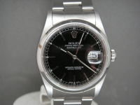 Rolex Date-Just 16200 36mm Stainless Steel Black Dial Complete One Owner Watch
