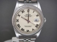 Rolex Date-just 16220 36 mm Ivory Dial Complete Box & Papers example