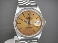 Rolex Date-just 16220 36 mm Caramel Dial Totally Complete Example
