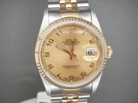 Rolex Mens Date-just 16233 Steel & 18ct Gold One Owner Complete Watch