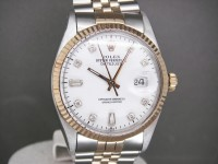 Rolex Date-Just Steel & 18ct Gold White Diamond Dial -Stunning!