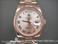 Rolex Day-Date 118235 Everose Gold Brand New Complete Watch