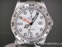 Rolex Explorer ll 216570 White Dial Orange Hands Brand New Watch