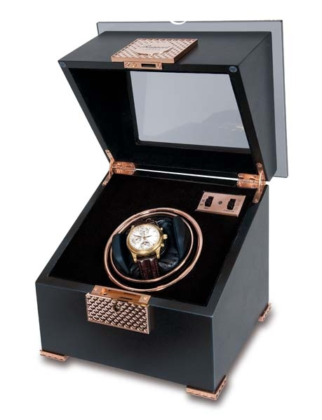Single watch winder - Black Rose - W331
