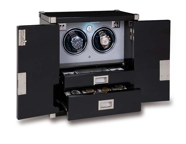 Twin Watch Winder - Mariner's Chest - Ebony - W292