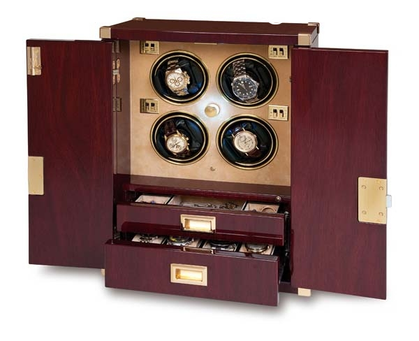 Multiple Watch Winder - Mariner's Chest - Mahogony - W284