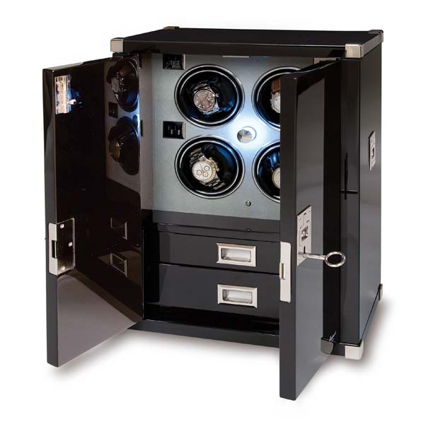 Multiple Watch Winder - Mariner's Chest - Ebony - W294