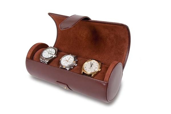 OUT OF STOCK - Watch Roll - Brown Leather - L111