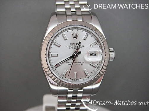 Rolex Ladies Date-Just Stainless Steel 179174 Brand New Complete Watch