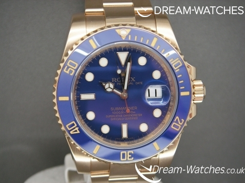 Rolex Submariner 116618LB Solid 18 CT Gold Blue Ceramic Bezel Brand New