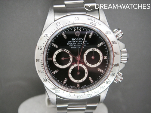 Rare Rolex Daytona 16520 Zenith Movement Black Dial Box & Papers Stunning!