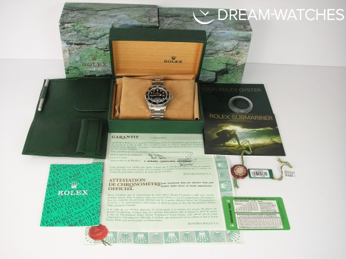 BRAND NEW OLD STOCK 2003 ROLEX SEA-DWELLER UK WATCH TOTALLY COMPLETE