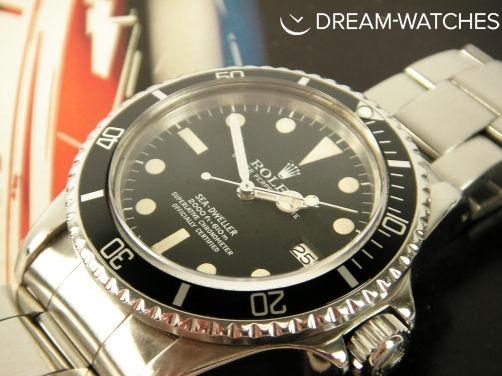 "Rare Vintage 1978 Rolex Sea-Dweller 1665 ""Great White"" Stunning Dial with Cream Patina"