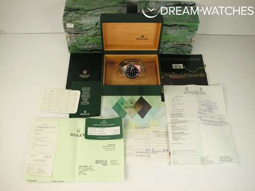 Rare Rolex GMT 2 16710 Coke Bezel 2004 UK Complete Watch & Original Receipt