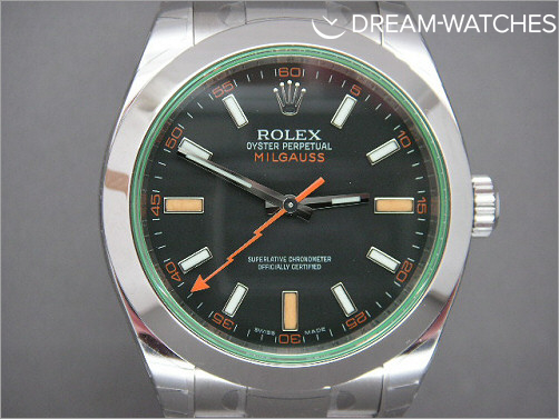 Rare Rolex Milgauss 116400 GV Green Crystal - Latest V serial
