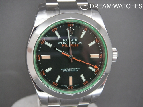 Rolex Milgauss 116400 GV Anniversary Green Crystal - Brand New Watch