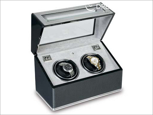 Twin Watch Winder - F3 Carbon Fibre and Aluminium - W252