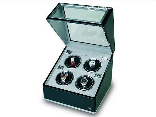 Multiple Watch winder - ebony and aluminium