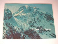 Rare early Rolex Explorer booklet