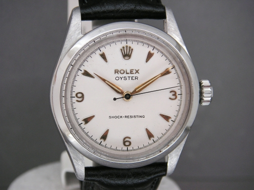 Mens Rolex oyster from 1954 Freshly serviced With Hirsch Black Strap - Very Original