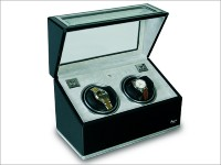 OUT OF STOCK - Twin Watch winder - ebony and aluminium