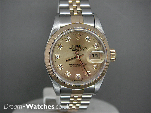 Pre owned Ladies Rolex Date-just Diamond Dial