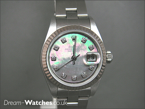 Pre owned Rolex Ladies Date-Just - Mother Pearl/Diamonds