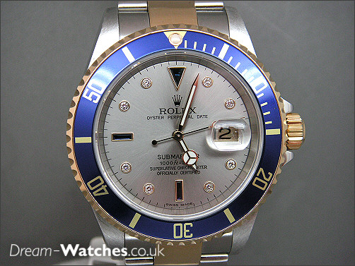 Pre owned Rolex Submariner 16613 - Serti Dial