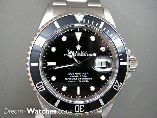 Pre owned Rolex Submariner Date 16610