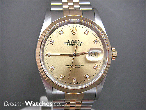 Pre owned Rolex Date-Just 16233 - Diamond Dial