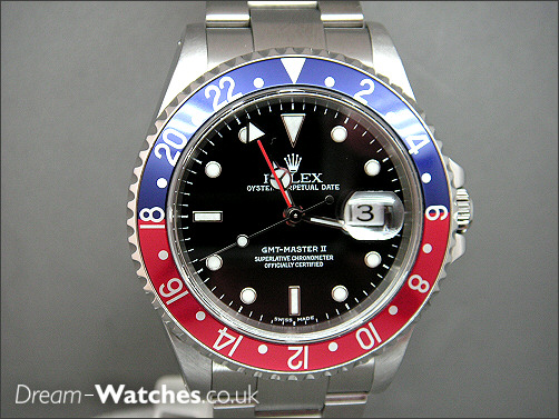 Pre owned Rolex GMT ll 16710 Pepsi
