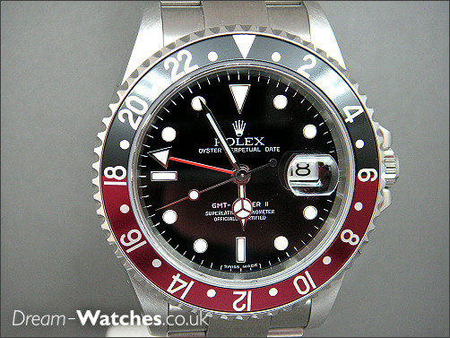 Rare pre owned Rolex GMT ll 16710 - Stick Dial