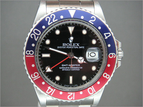 Vintage Mens Rolex GMT last of plastic glass models 16750