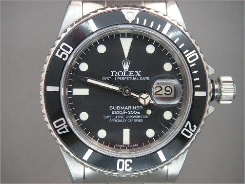 Vintage Mens Rolex transitional Submariner 16800