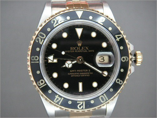 Pre owned Mens Rolex GMT2 steel and 18k 16713