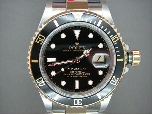 Preowned Mens Rolex Submariner 16613 black dial