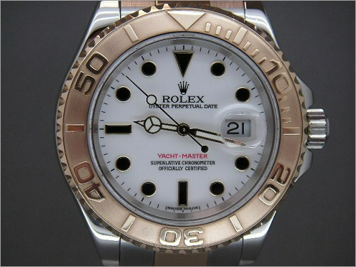 As new Mens Rolex Steel and 18K full size Yacht-Master 16623