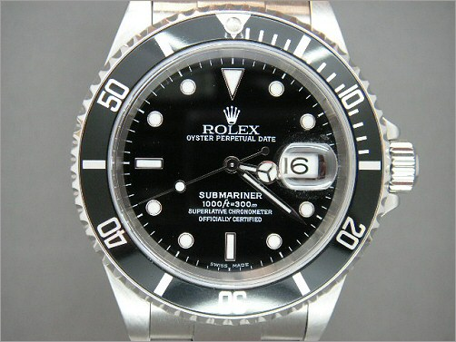 Preowned Mens Rolex Submariner 16610