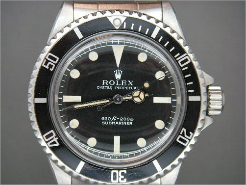 Mens Rolex Vintage Submariner 5513