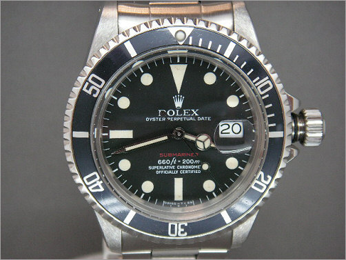 Mens Vintage Rolex Submariner 1680 red writing