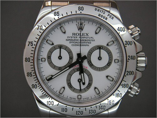 Pre owned mens Rolex stainless steel Daytona 116520