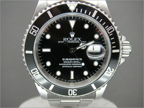 Pre owned mens Rolex Submarner Date 16610